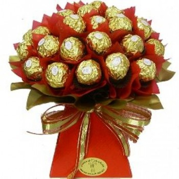 Bouquet of 16 Pcs Ferrero Rocher Chocolate