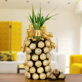 Arrangment of 50 Ferrero Rocher Chocolates