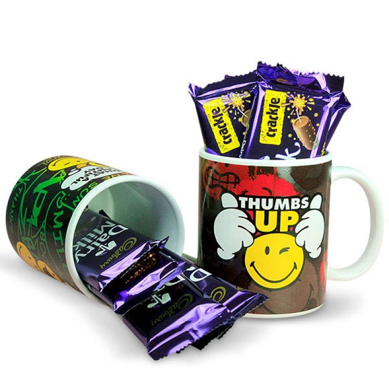 Smiley Mugs and Chocolates Hamper