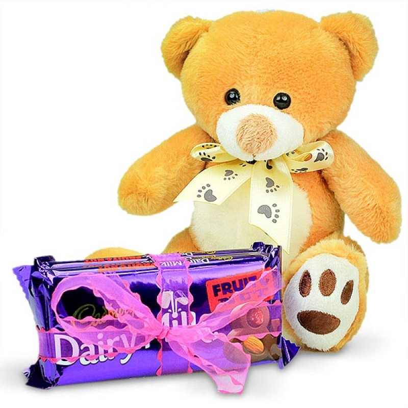 Cuddly Soft Toy and Chocolates Hamper