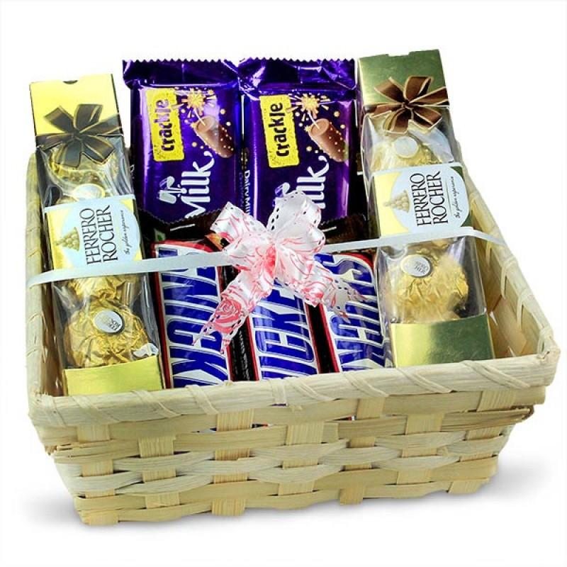 Delightful Chocolates Basket Hamper