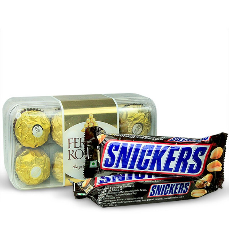 Ferrero Rocher and Snickers Hamper