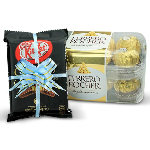 Ferrero Rocher and Kitkat Chocolates Hamper