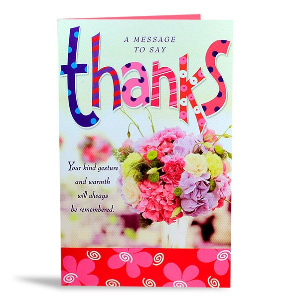 Thank You card with Delicious Chocolates