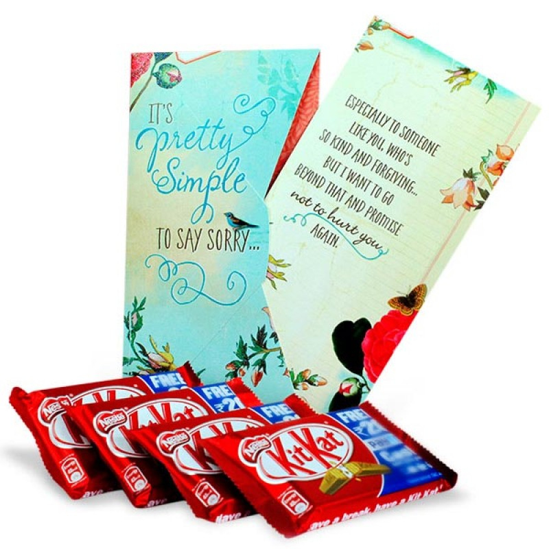 Sorry Card and Chocolates Hamper
