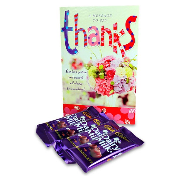 Chocolaty Message To Say Thanks