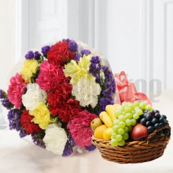 Send Flowers with Fresh Fruits Online