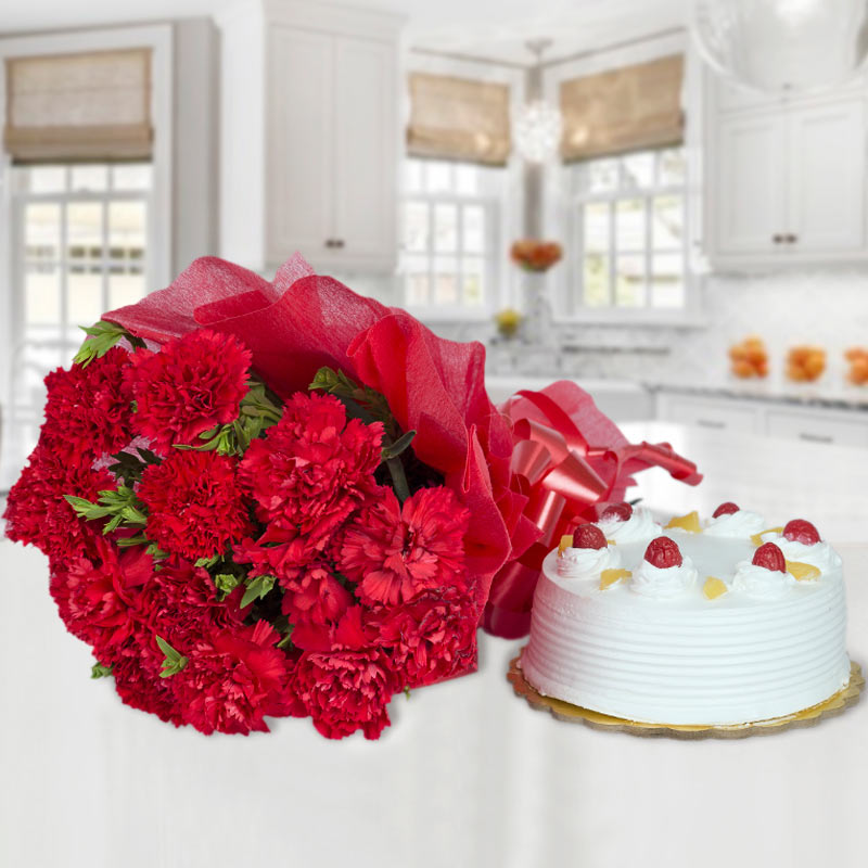 Carnations and Cake