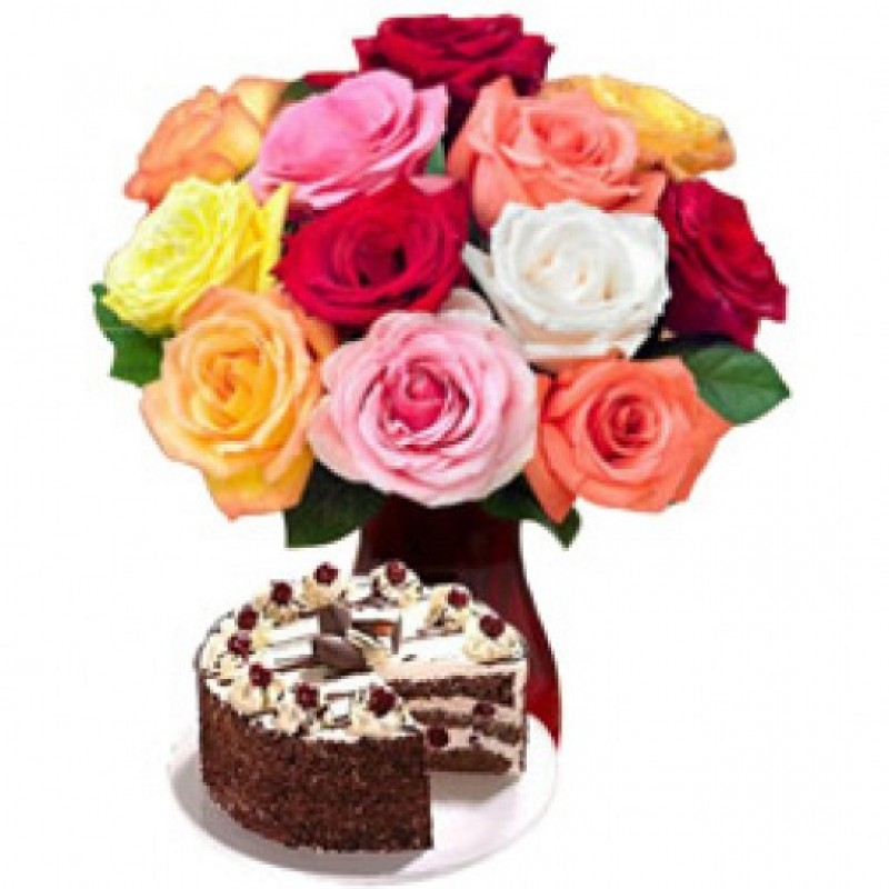 Mixed Roses n Cake custom
