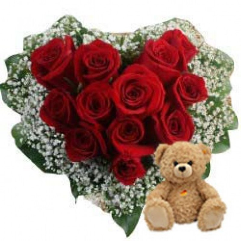 Heart Roses n Teddy