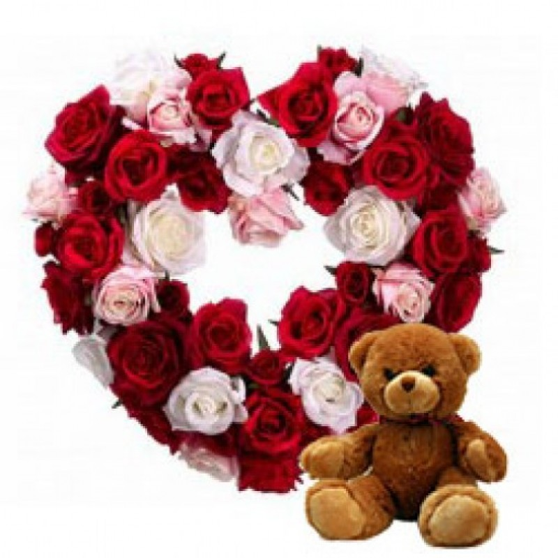 Teddy with Roses