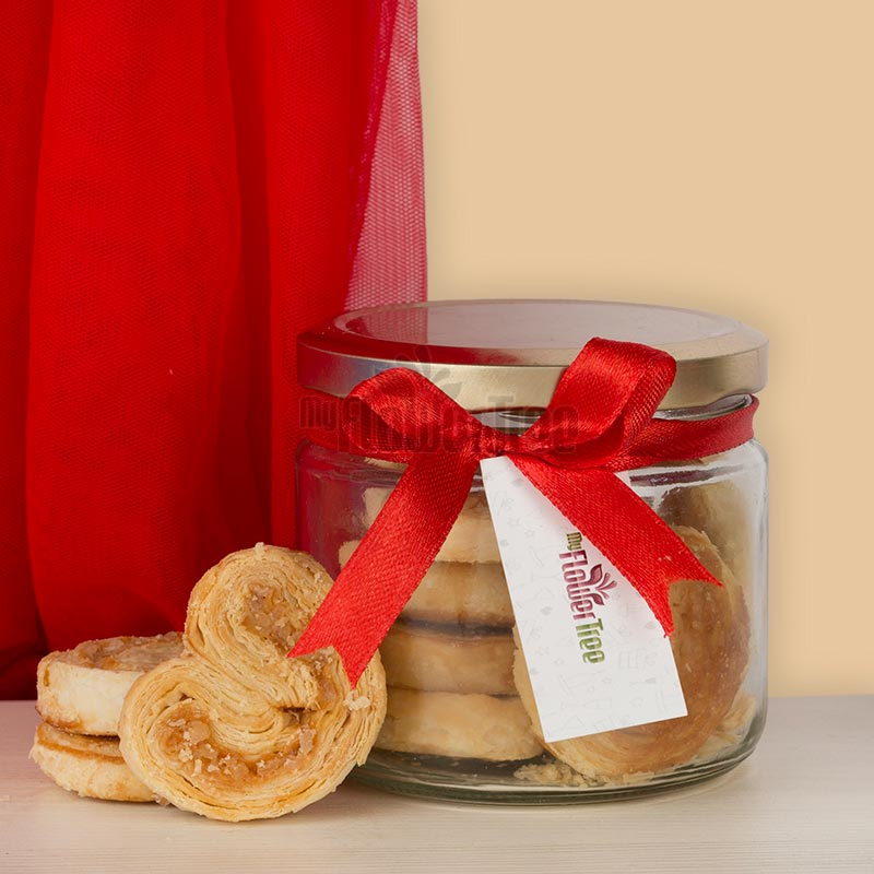 Jar of French Heart Cookies