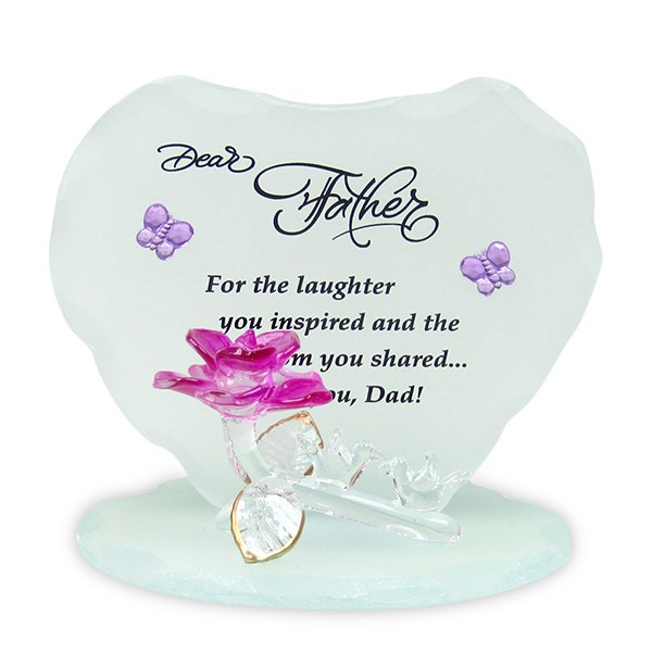 Love You Dad Glass Quotation