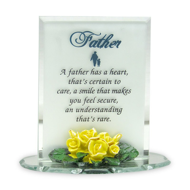 Thank You Father For Being There Glass Quotation