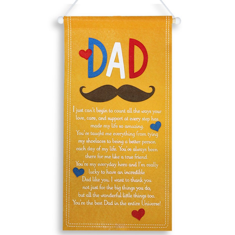 Best Dad Quotation Scroll