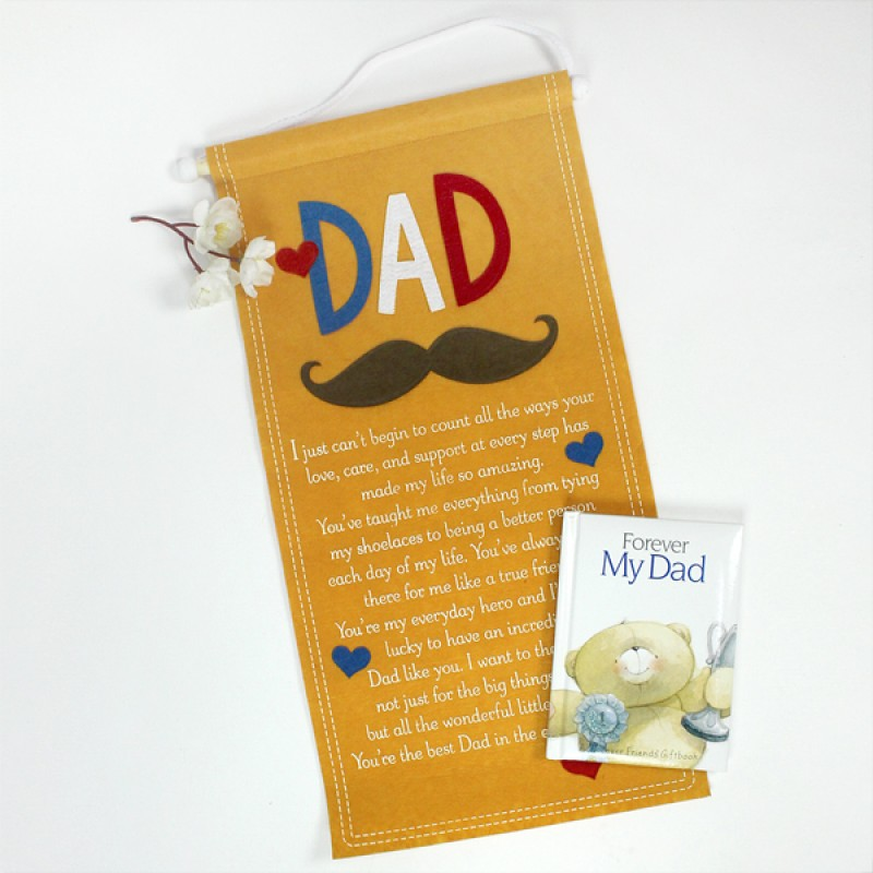 Quotation Scroll n Book for Dad