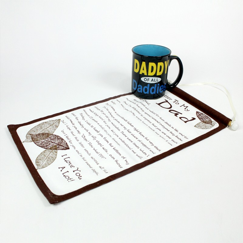 Quotation Scroll n Mug for Dad