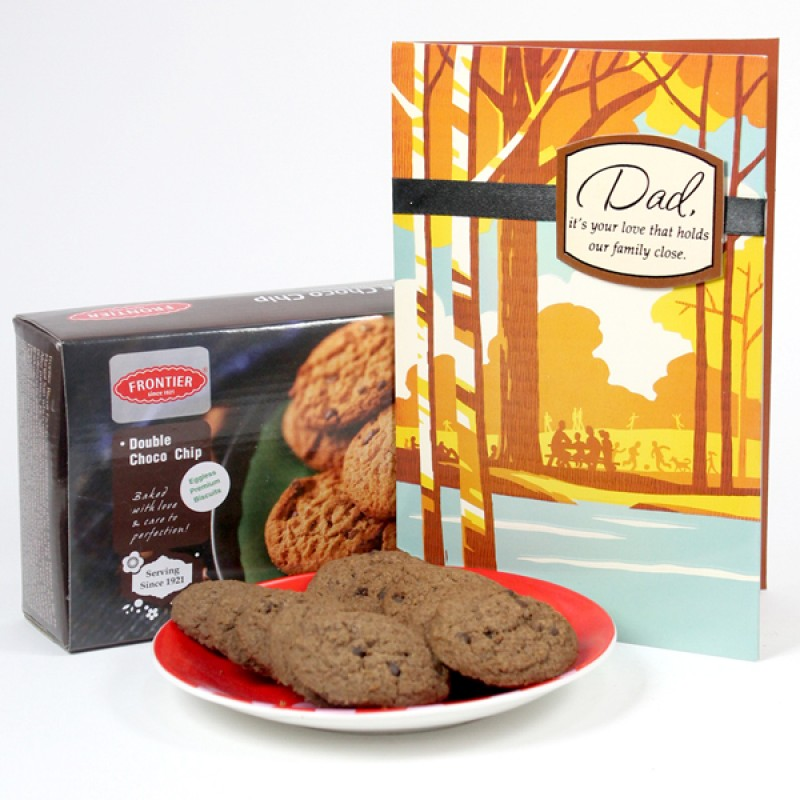 Chocolate Cookies n Greeting Card Hamper