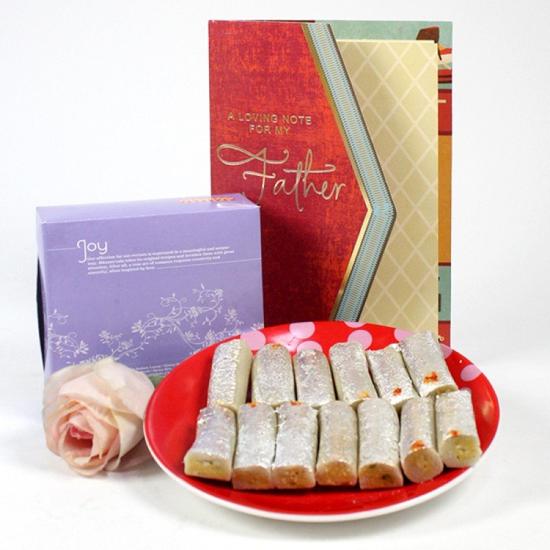 Kaju Roll n Card Gift Hamper