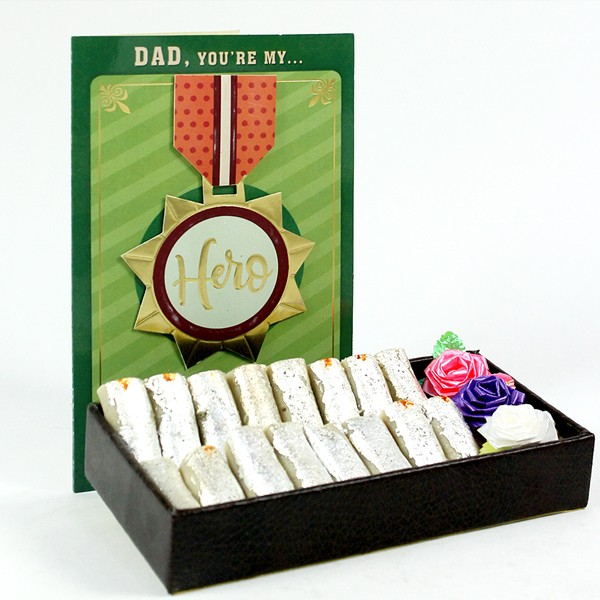 Kaju Roll with Greeting Card