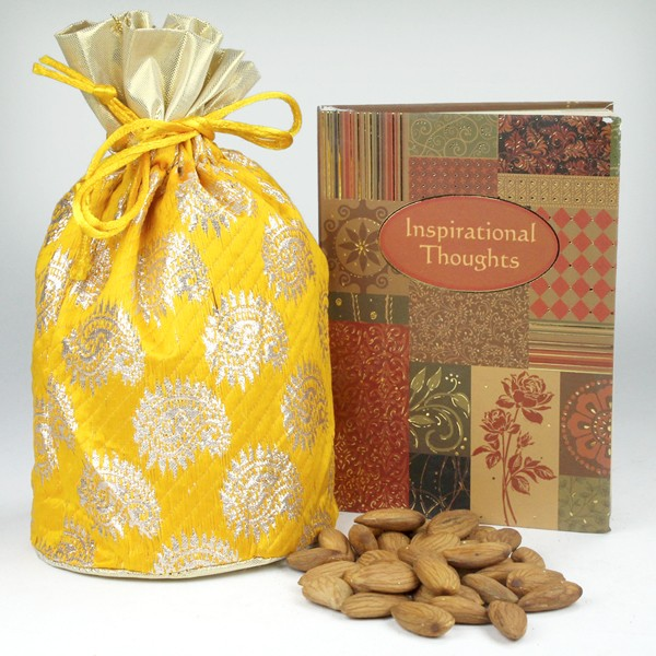Dryfruits Potli n Inspiring Thoughts Book Hamper