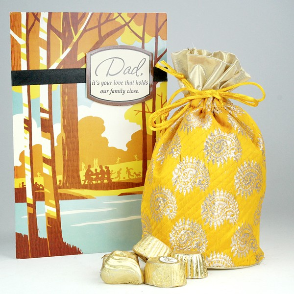 Delicious Chocolates n Greeting Card Hamper