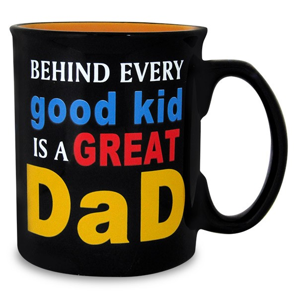 Great Dad Black Mug