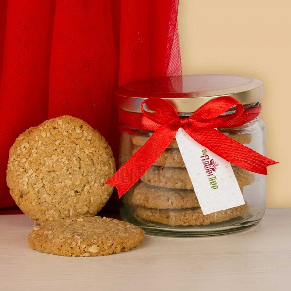 Jar of Oat Cookies