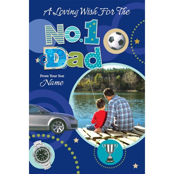 No. 1 Dad personalized Card