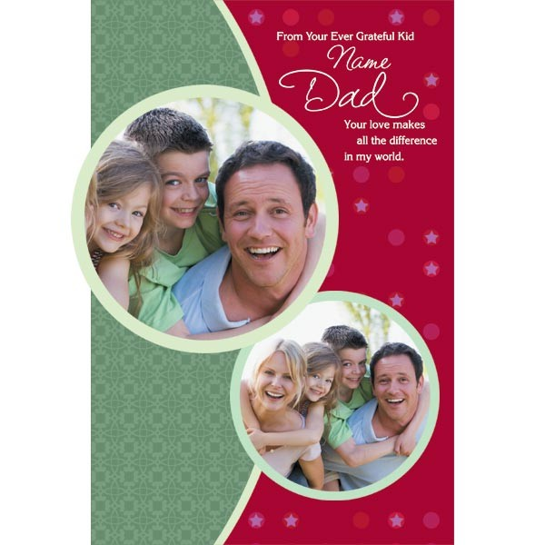 Your Love Makes A Difference Dad personalized Card