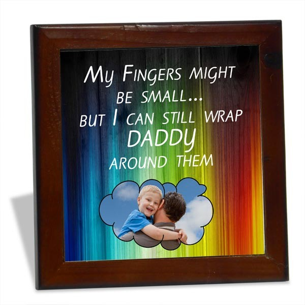 Love You Daddy personalized Tile Frame