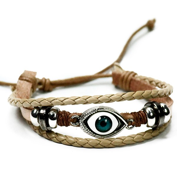 Beige Evil Eye Boys Friendship Band