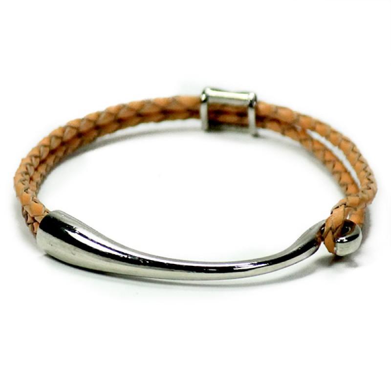 Stylish Peach Unisex Friendship Bracelet