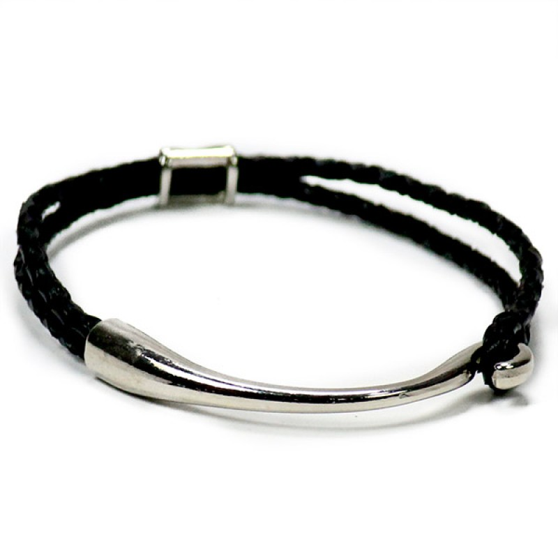 Braided Black Unisex Friendship Bracelet
