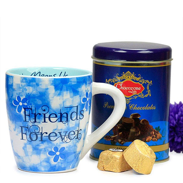 Friends Forever Mug with Chocolate Box