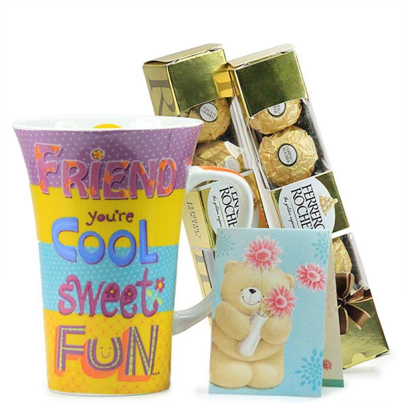 Friendship Mug n Ferrero Rocher Hamper