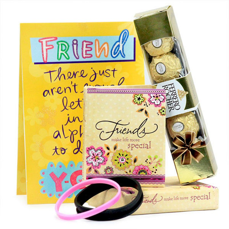 Friendship Quotation Book n Chocolates Hamper