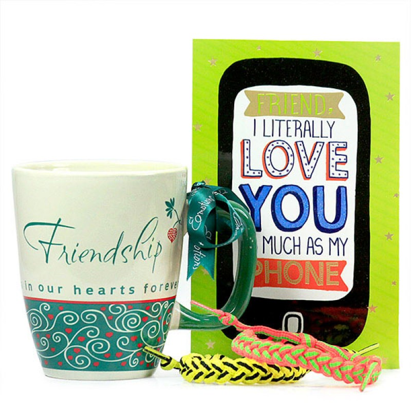 Friendship Bands n Stylish Mug Hamper