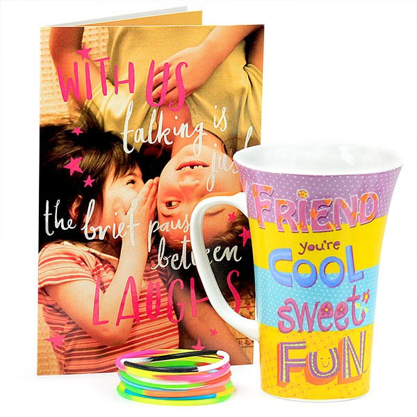 Stylish Mug n Friendship Wristbands Hamper