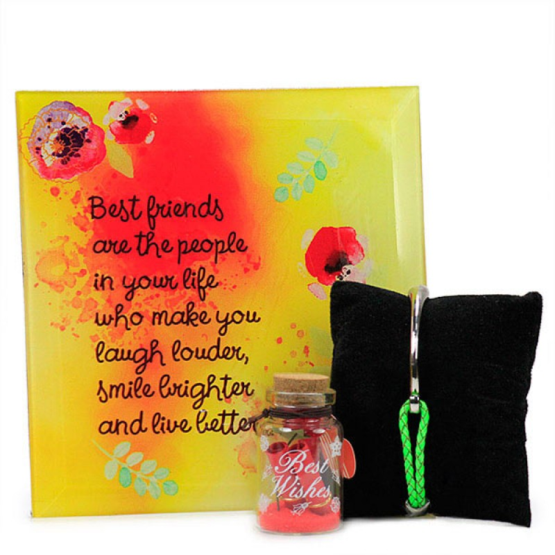 Best Friends Quotation with Message Bottle