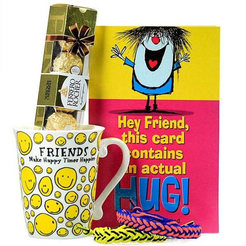 Smiley Mug n Ferrero Rocher Hamper