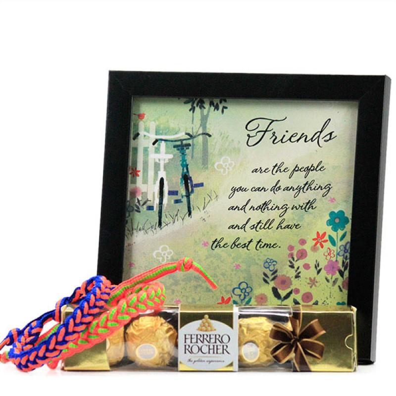 Friendship Quotation n Chocolates Hamper