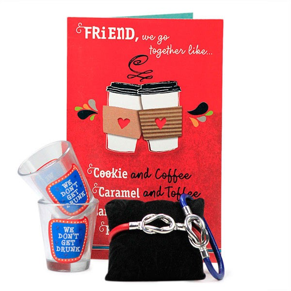 Trendy Shot Glasses with Friendship Band