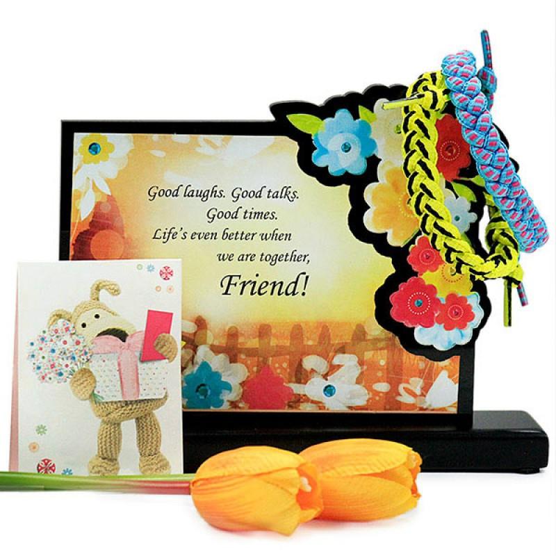 Friendship Quotation n Bands Hamper