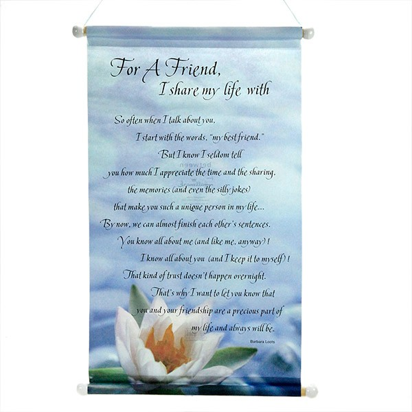 Friend Forever Quotation Scroll