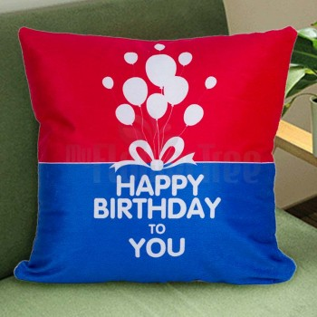 Happy Birthday Printed Cushion