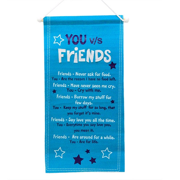 You and Friends Quotation Scroll