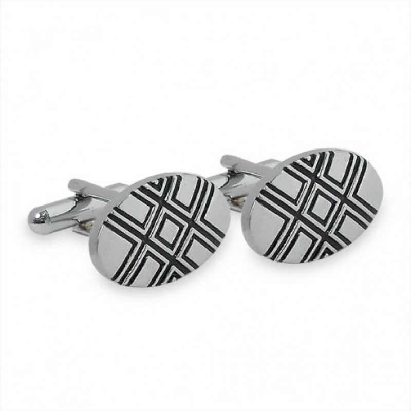 Oval Grey Cufflinks