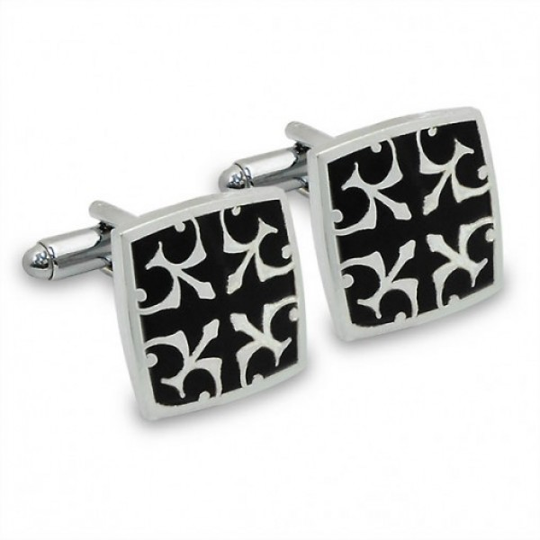 Modish Black Cufflinks