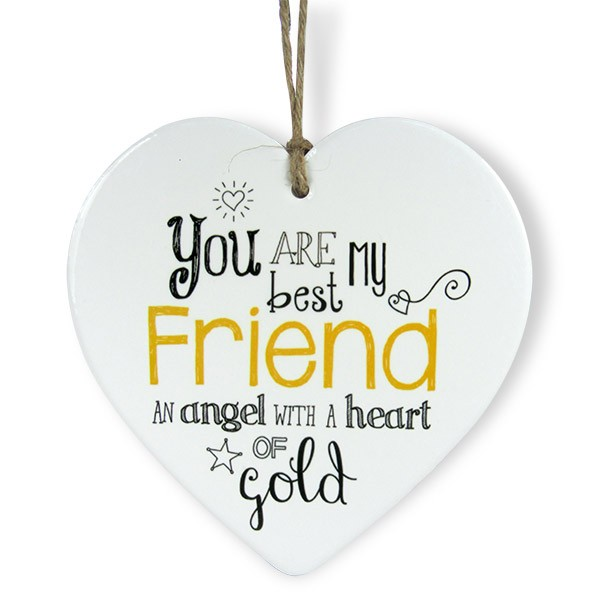 You Are My Best Friend Heart Quotation